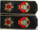 Shoulder straps,insignia, buttonhole Navy