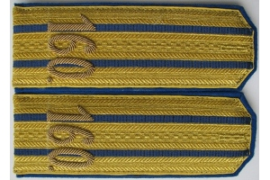 Braided shoulder straps 160 th infantry regiment senior officers, the Russian Imperial Army, Repro