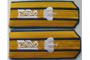 Captain's shoulder the 51st infantry regiment of the Lithuanian chief of Tsarevich Alexei, Russian Imperial Army, Repro