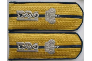 Epaulettes Junior officers the 51st infantry regiment of the Lithuanian chief of Tsarevich Alexei, Russian Imperial Army, Repro
