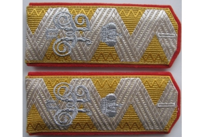 Shoulder Straps, Epaulettes General of Infantry in retirement, the Russian Imperial Army, WW1, Repro