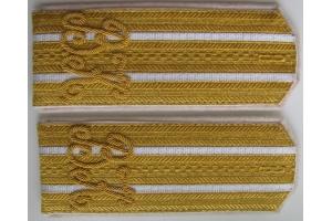 Ceremonial shoulder straps Colonel Vladimir of Kiev Cadet Corps , Russian Empire, WW1 , M1914, Repro