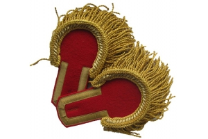 Epaulettes staff officer red field a golden device, with a fringe. Infantry, artillery. RIA Replica