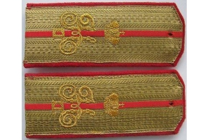 Shoulder straps of the captain ( captain in the cavalry, a captain in the Cossack armies) of company patronage of his Majesty, the Russian Imperial Army, M1914, Repro