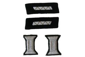 Комплект знаков различия для парадного мундира младших офицеров КА, инженерно-технический состав артиллерия, бронетанковые и инженерно-технические войска, СССР, копия