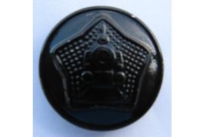 Пуговица шинельная (23 мм) , латунная, НКПС, СССР, копия