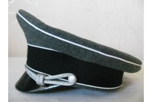 Фуражка полевая офицеров и унтер-офицеров c кожаным козырьком, Ваффен-СС (Германия), Копия