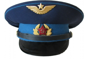 Peaked cap for sergeants and soldiers of the air force honor guard of the Moscow 1960 type, Soviet Union, Replica