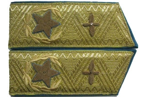 1983-pattern parade shoulder boards for Chief Air Marshal, Soviet Union, Replica