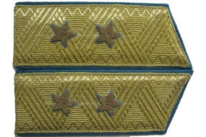 Shoulder straps of Lieutenant-General of aviation to the door and parade-output uniform 1969 type, Soviet Union, Replica