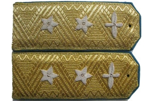 Dress shoulder straps of Lieutenant General air force Red Army 1943 type, WW2, Replica