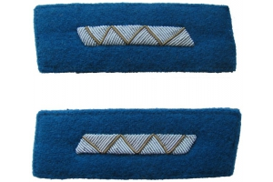 Color patches of 1943-pattern Red Army Air Force officers' dress coats, medium engineer and technical staff , WW2, Replica