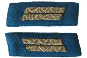 Color patches of 1943-pattern Red Army Air Force officers' dress coats, senior command staff , WW2, Replica