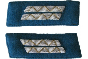 Color patches of 1943-pattern Red Army Air Force officers' dress coats, senior engineer and technical staff , WW2, Replica