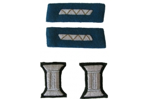 Set of insignia for parade uniform of Junior officers Red Army, engineering staff, aviation, WW2, Replica