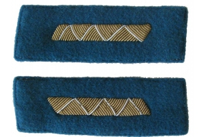 Color patches of 1943-pattern Red Army Air Force officers' dress coats, medium command staff , WW2, Replica