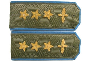 Field shoulder straps of Colonel General of the air force Soviet Union 1943 type, WW2, Replica
