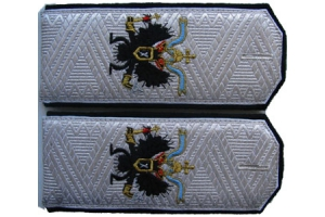 Shoulder straps Rear-Admiral of the Russian Imperial Navy, Imperial Russian Army, WW1, Repro