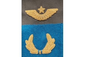 WW2 Set of cockades on the cap command staff of the Red Army aviation, Replica