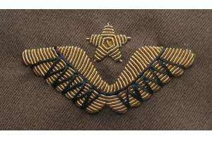 Cap insignia to wear on crown and of the 1940-pattern aviation generals peaked cap, Red Army, WW2, Replica
