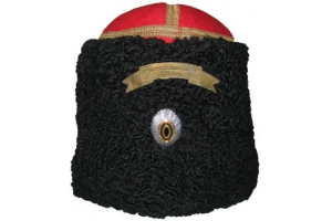 WWI Papakha Imperial Russia Military Officer RIA Hat karakul with cockade but without metal tape, Repro