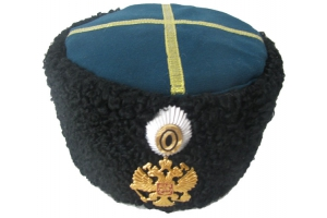 Papakha Imperial Russia Military Hat Officer karakul 1881-1907, WW1, Repro
