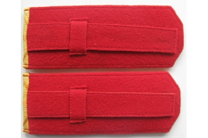 Shoulder straps of the 4th hussars regiment Mariupol Empress Elizabeth Petrovna, of the Russian Imperial Army, WW1, Repro
