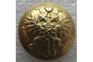 Button running state emblem, yellow brass, 16mm, Russian Imperial Army, Repro