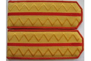 Shoulder boards of captain of the 9th Kiev hussar regiment, Russian Imperial Army, Junior officers of Aviation of the Kiev hussar regiment, type 1907, WW1, Repro