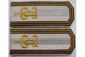 WW1 Shoulder straps military official vnetabelny clerk candidate for the post in the classroom to the rank of sergeant positions regimental clerk first Kiev St. George Regiment 1916 type, Replica