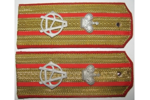 Shoulder straps of Colonel 21st East-Siberian Infantry Her Majesty the Empress Alexandra Feodorovna Regiment, Replica