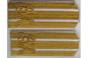 Ceremonial shoulder straps Colonel Vladimir of Kiev Cadet Corps , Russian Empire, WW1 , M1914, Repro