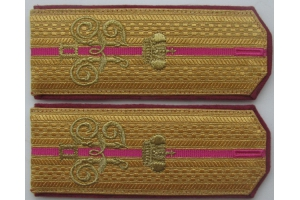 WW1 Shoulder straps Сaptain of the 6th Kuban Plastun Battalion M1915 Replica