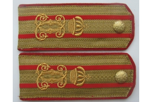 WW1 Shoulder straps colonel of the 18th Infantry Regiment of the Romanian King Vologda M1898 Replica