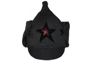 """Зимний шлем """"Буденовка"""" рядового и младшего комсостава образца 1939 года, Артиллерия и Автобронетанковые войска, СССР, копия"""