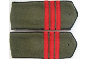 Погоны полевые образца 1943 года, сержант (Инженерно-технические войска) РККА, СССР, копия.