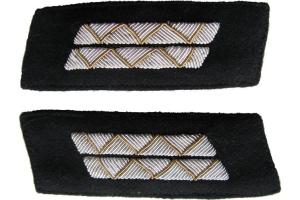 Петлицы старшего офицерского состава РККА образца 1943 года парадные суконные, танкисты, нестроевой состав, СССР, копия