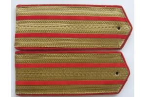 Погоны повседневные образца 1943 года, Бронетанковые войска и артиллерия, старший офицерский состав, СССР, копия