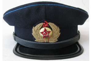 Service cap worn by GUGVF commanders M1936-43, WW2, Soviet Civil Aviation, Replica