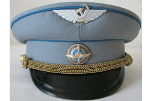 Summer service cap worn by captain of an aircraft operaring on domestic lines M1947-1961, State Air Fleet's, Soviet Civil Aviation, Replica