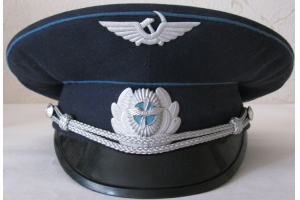 Summer service cap worn by technical and administrative personnel of Civil Aviation Ministry M1965,Soviet Union, Replica