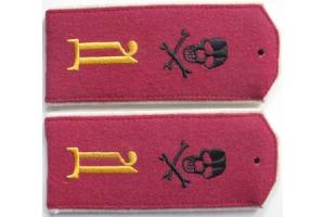 Погоны рядового состава, Дроздовский полк ( белое движение ), образца 1918 года, копия
