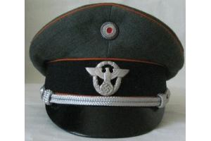 Cap Vizor Cap Gendarmerie Police Third Reich Cap Vizor   (Germany) WW2 Replica