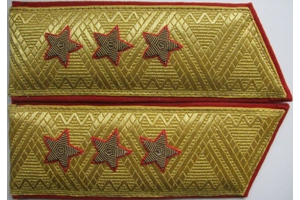 Shoulder-straps military Colonel-General of the Army, M1970, Soviet Union, Repro
