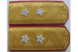 Everyday shoulder-straps of Lieutenant-General of the red army type 1943, WW2, Repro