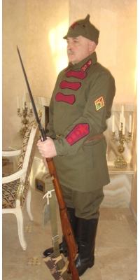 Форма красноармейца РККА, образца 1922 года, копия