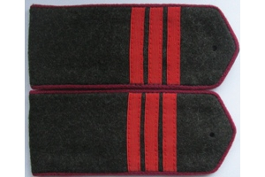 Field shoulder boards, Sergeant (infantry) the red army, type 1943, WW2, Repro