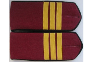 Everyday shoulder boards, Sergeant infantry of the red army, type 1943, WW2, Repro