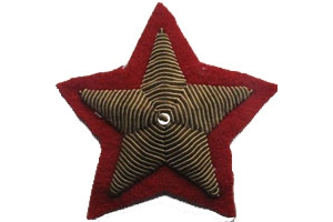 WW2 Pair of sleeve insignia of the stars of the Marshal of the Soviet Union 1940 type, copy