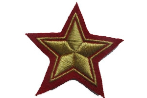 WW2 Pair of sleeve star commanders of the infantry of the red army type 1940 Repro